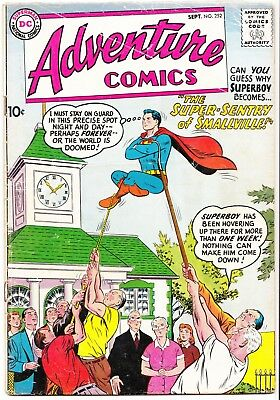 Silver Age DC SUPERBOY in ADVENTURE COMICS #252 1st faux Red Kryptonite