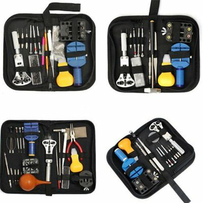 Watch Back Cover Case Opener Remover Battery Watchmaker Repair Tool Kit Lot KZ