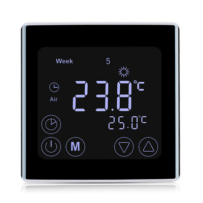 Digitaler Thermostat Raumthermostat Fußbodenheizung Touchscreen LCD BYC17.GH3