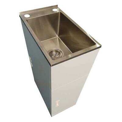 NEW Laundry Tub and Cabinet Trough 21L Metal Brushed Finish Everhard Industries