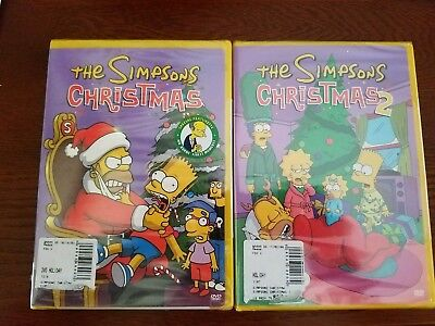 The Simpsons Christmas Dvd.The Simpsons Christmas Dvd 1 2 Lot Dvd New Sealed