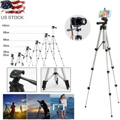 Professional Portable Adjustable Camera Tripod Stand Mount+Cell Phone Holder+Bag