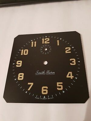 SMITHS BLACK  SQUARE CLOCK DIAL/ Face X 1 VINTAGE OLD NEW STOCK 4`