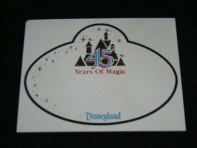 Disney 45th Anniversary Blank Cast Member Name Tag, Disneyland