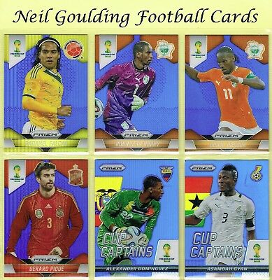 World Cup PRIZM 2014 ☆ BLUE PARALLEL ☆ Football Cards #/199