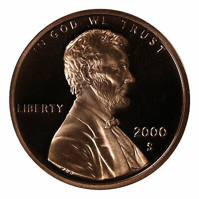 2000 -S Lincoln Memorial Cent Gem Proof Single Coin