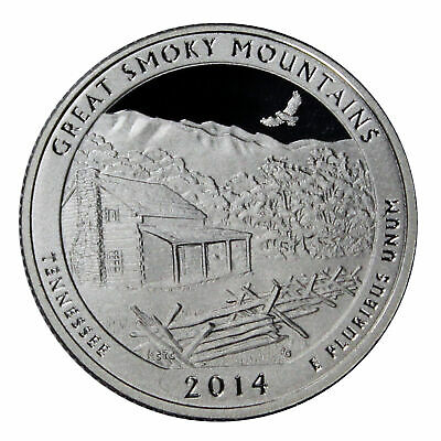 2014 S Tennessee Quarter ATB Great Smoky Mountains Gem PROOF Deep Cameo Coin