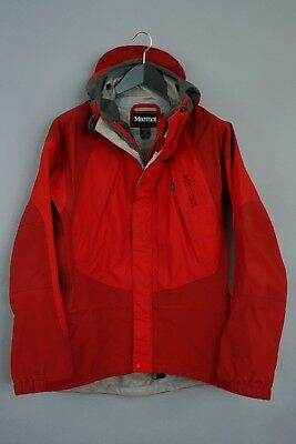 Men Marmot Jacket Gore-Tex XCR Red Hiking Camping Waterproof Size S ZCA5