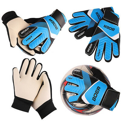 Kids Youth Football Soccer Sport Goalkeeper Gloves Goalie Glove Finger Protector