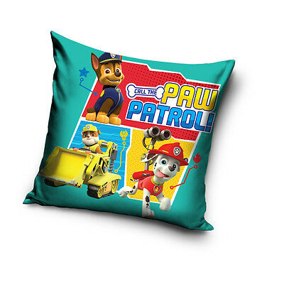 PAW PATROL Chase Rubble Marshall cushion cover 40x40cm 100% COTTON