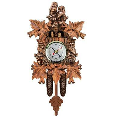 Wooden Cuckoo Clock Decorative Wall Clock with Quartz Movement Novelty Gift