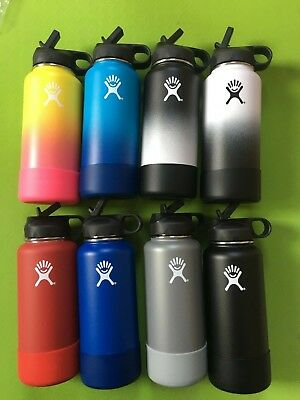 18/32/40OZ Hydro Flask Insulated Stainless Steel WaterBottle W/StrawLid+FlexBoot