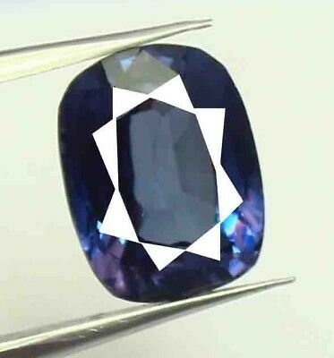 12.85 Ct Certified Natural Cushion Shape Color Changing Alexandrite Gems AM1169