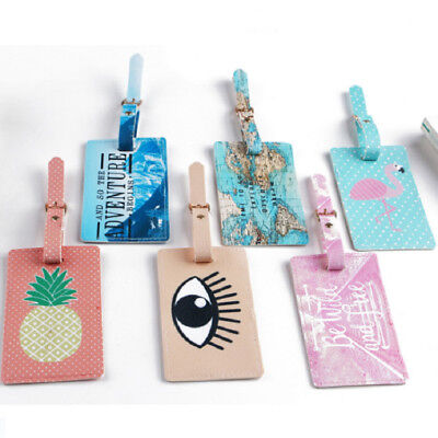 Newly Luggage Tag Travel Suitcase Bag Id Tags Address Label Baggage Card Holder
