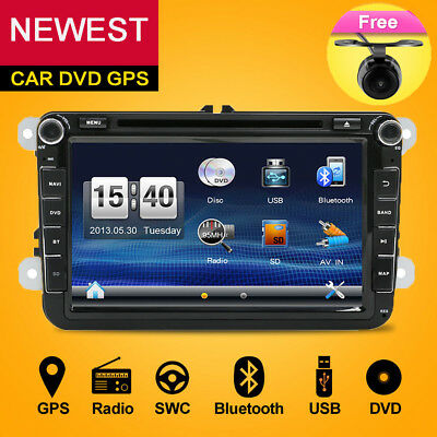 "8"" AUTORADIO Mit GPS NAVI VW DVD PLAYER BLUETOOTH Für VW GOLF 5 PASSAT TOURAN"