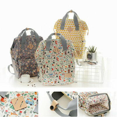 Women Floral Mummy Maternity Nappy Diaper Bag Large Travel Baby Backpack Handbag