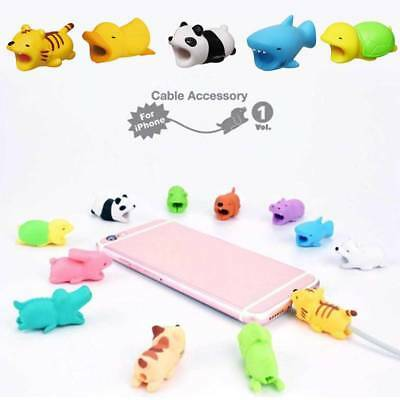 Cartoon Cute Animal Phone Charger Protector Soft Cord Cable Bite Accessories