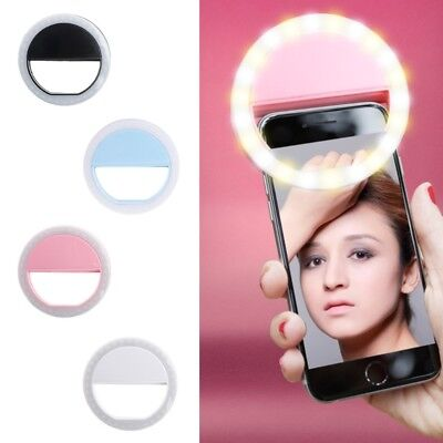 Selfie LED Ring Fill Light Camera Photography Android Phone Portable for iPhone