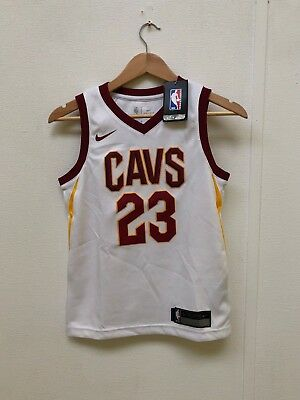 dfff7577d11b Nike Kid s NBA Cleveland Cavaliers Home Jersey - 8 Years - White - James 23  -