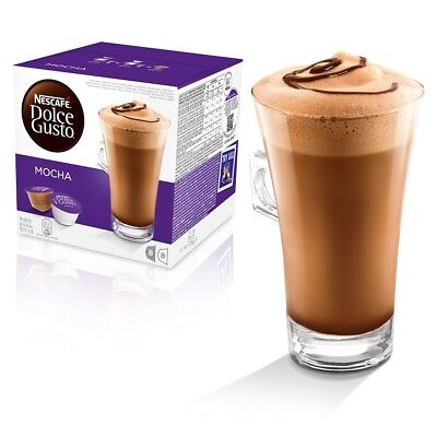 Nescafe Dolce Gusto Mocha Coffee and Milk, 16 Pods, 8 Drinks