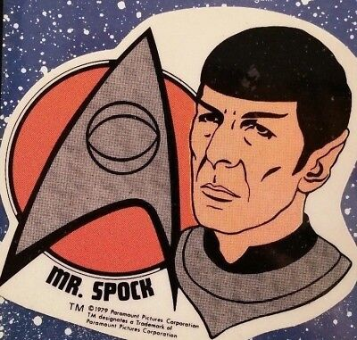 NOS Spock Leonard Nimoy Star Trek the Motion Picture Instant Stained Glass 1979