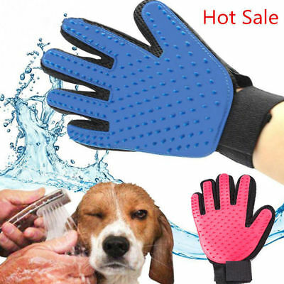 Pet Dog Cat Grooming Cleaning Magic Glove Hair Dirt Remover Brush Deshedding #D