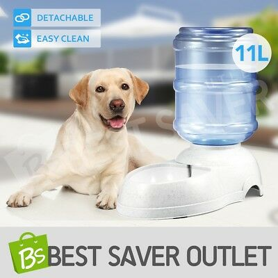 Pet Dog Cat Puppy Water Dispenser Feeder Bottle Bowl Dish Automatic Drinking 11L