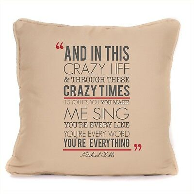Michael Buble Everything Song Lyrics Cushion With Pad Design 2