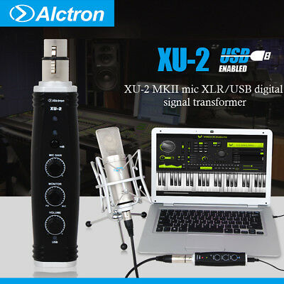 Digital Audio Interface Mic XLR/USB Signal Transform Converter 48V phantom power