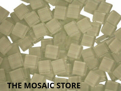 White Crystal Glass Mosaic Tiles 1cm - Art & Craft Supplies
