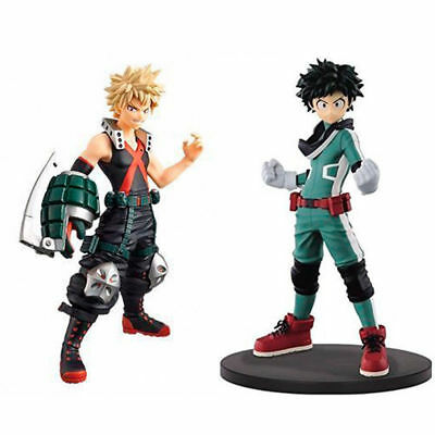 New 2PC Anime My Hero Academia Bakugou Katsuki+Midoriya Izuku Toy PVC Figure