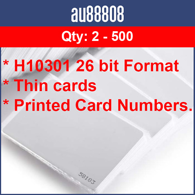 PROXIMITY CARDS WORKS WITH HID ISOProx 1326 1386 PROXCARD II H10301 26 BIT PROX