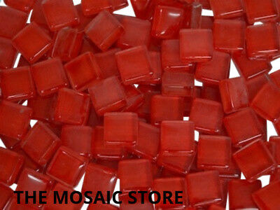Red Crystal Glass Mosaic Tiles 1cm - Art Craft Supplies