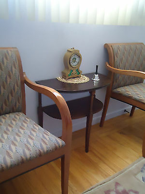 Antique Half Moon Wood Foyer End Table Console Coffee Table