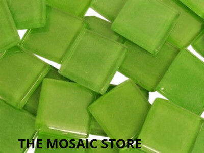 Green Crystal Glass Mosaic Tiles 2cm - Supplies Art Craft