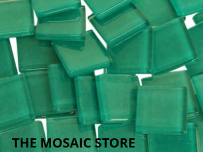 Teal Crystal Glass Mosaic Tiles 2cm for Mosaic Art & Craft Tiles & Supplies