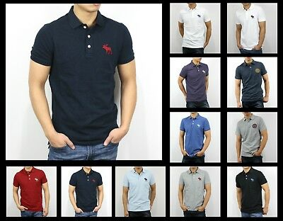8bc9d07b New Abercrombie & Fitch AF by Hollister Men Polo Big Icon Stretch Polo  Shirts