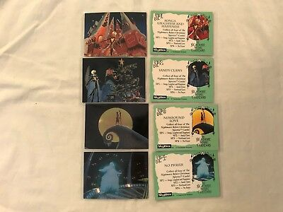 1993 SkyBox The Nightmare Before Christmas Spectra Chase Trading Card Set of 4