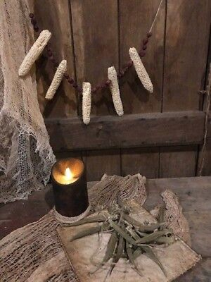 Primitive Dried Corn Cobs Cranberries Okra Garland Early Look Homestead
