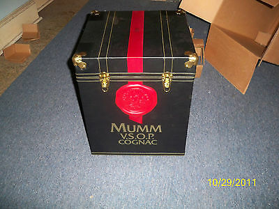 New MUMM VSOP V.S.O.P Cognac Trunk Case Storage Bin Free Shipping!