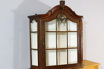 Antique Wall Cabinet in Nutwood Hanging Cabinet Cupboard Old Cabinet