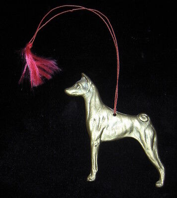Collection of FOUR  BASENJI tree ornaments.