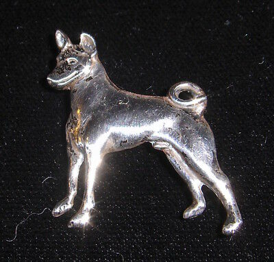 BASENJI PIN in Silver. Standing figure cast in 1965, one of only two cast.