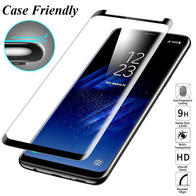 6D Full Display Glas Panzerfolie für SAMSUNG Note 9/S7 Edge/S8 S9Plus Film Guard