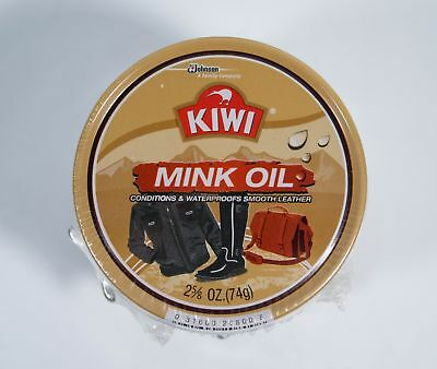 3 Pack of KIWI Mink Oil Conditions & Waterproofs Smooth Leather 2 5/8 oz