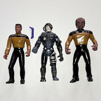 Star Trek TNG Actionfiguren La Forge Worf Borg - Playmates 1994 1992 / Sammlung