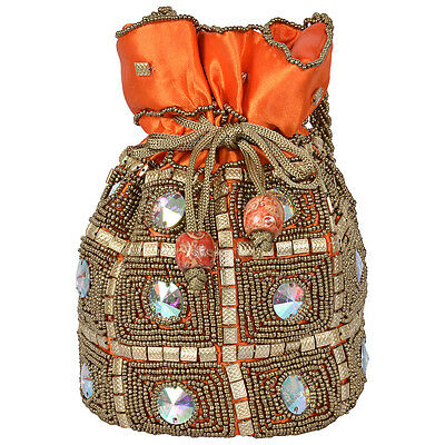 Indian Rajasthani Potli Wedding Pouch With Hand Work Code 15