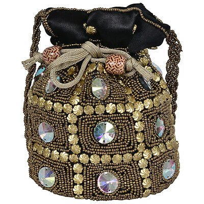 Indian Rajasthani Potli Wedding Pouch With Hand Work Code 11