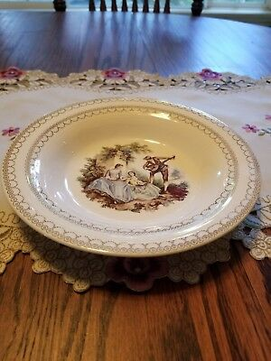 American Limoges Serenade Round  Bowl 22K Gold Sheffield USA