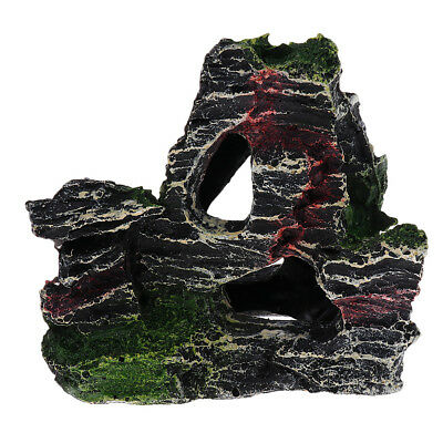 Mountain Coral Reef Rock Fish Hide Cave Stone for Fish Tank Landscape Decor